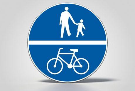 Znak drogowy C13/16 - droga dla rowerów i pieszych