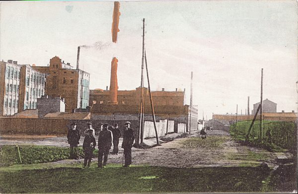 Historyczne zdjęcie fabryki