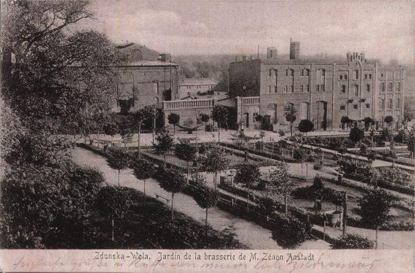 Historyczna kartka pocztowa z fotografią Browaru.