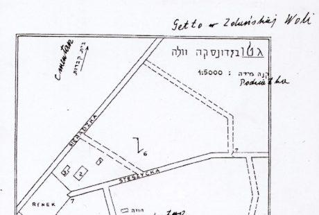 Mapa getta żydowskiego w Zduńskiej Woli