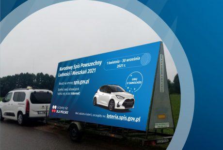 Reklama mobilna Narodowego Spisu Powszechnego