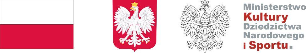 Flaga i godło Polski oraz logo Ministerstwa